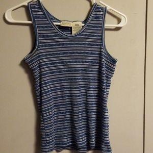 Blue striped tank top